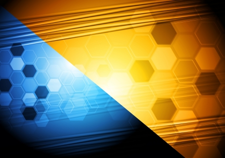 Bright two-colored hi-tech design Stock Vector - 15322144