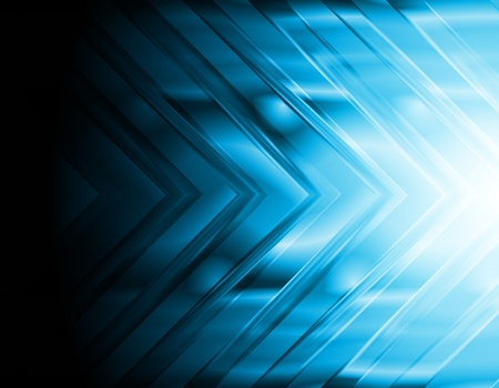 hi tech background: Dark blue hi-tech background  Bright arrow Illustration