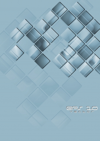 Abstract technology background with squares. Vector