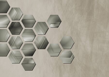 Abstract vintage background with technology elements.  Vector