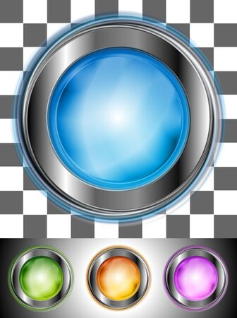 Glossy colourful buttons with the same illumination  May be applied to any background  Vector design eps 10 Vector
