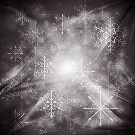 Merry Christmas! Abstract sparkling background with snowflakes. Eps 10 vector design Stock Vector - 15694980