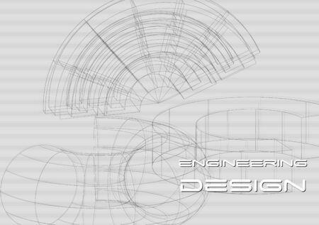 engineering design: Abstract engineering design. Hi-tech vector background