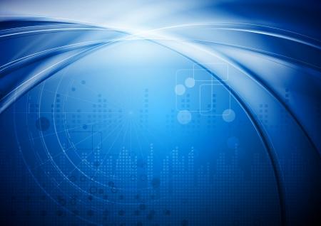 Hi-tech abstracte achtergrond. Stock Illustratie