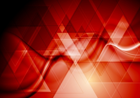 iridescent: Abstract technology background with waves  Illustration
