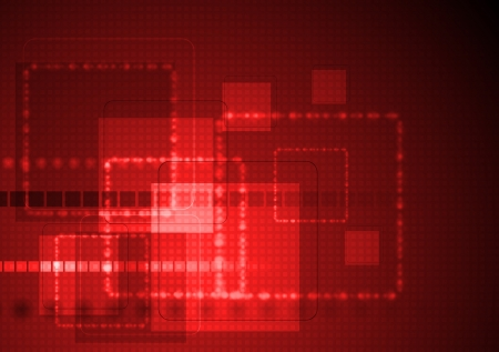 Bright red technology background   Vector