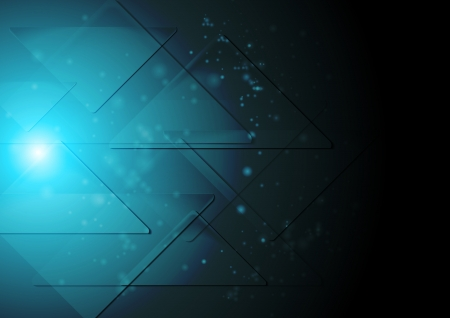 iridescent: Dark blue technology background. Illustration