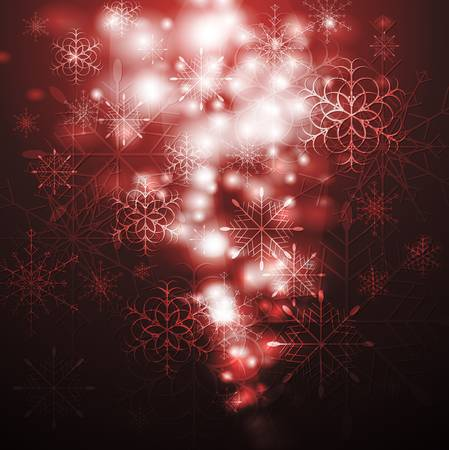 Merry Christmas! Abstract sparkling background with snowflakes. Eps 10 vector design Stock Vector - 16354243
