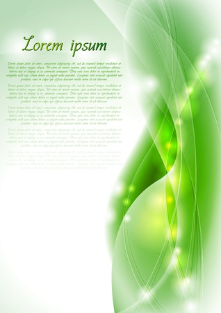green background: Abstract green wavy background. Vector design eps 10. Gradient mesh included Illustration