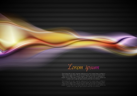 Abstract glowing waves on the dark background. Vector design eps 10 Stock Vector - 16443533