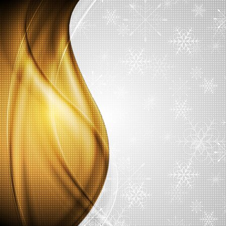 Abstract Christmas golden background. Vector design eps 10 Stock Vector - 16589186
