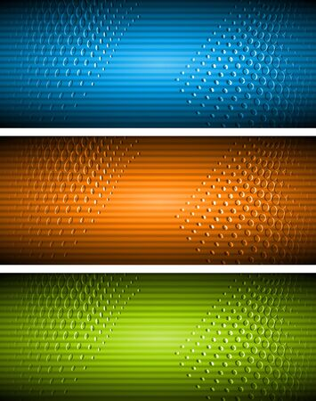 Abstract vibrant banners. Vector illustration eps 10 Vector