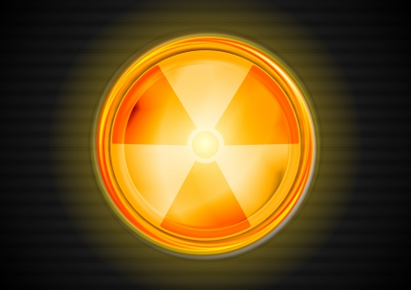 Nuclear radiation shiny symbol.  Vector