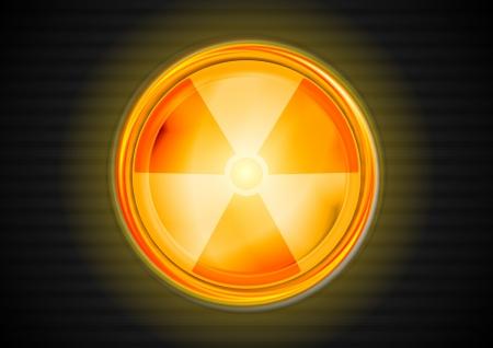 Nuclear radiation shiny symbol. Stock Vector - 16827718