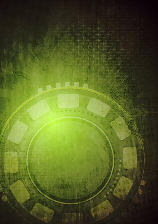 Grunge tech background. Vector design eps 10 Stock Vector - 16908717