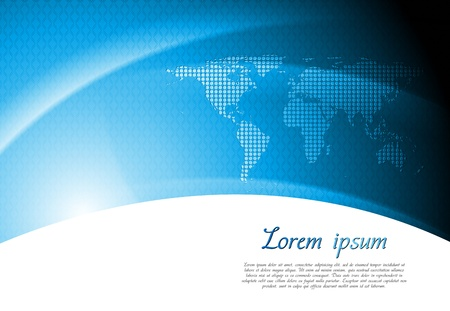 Abstract tech background with world map. Vector design eps 10 Illustration