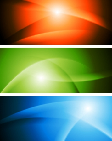 Bright abstract wavy banners. Vector design eps 10 Vector