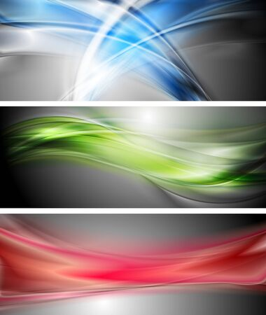 Colourful waves banners. Stock Vector - 17141136