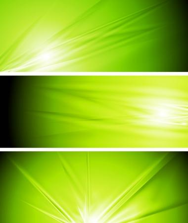 textural: Abstract light green summer banners.