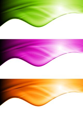 Colourful abstract wavy banners. Stock Vector - 17236120