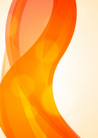 Abstract orange wavy background Stock Vector - 17307656