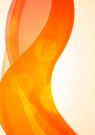 Abstract orange wavy background Stock Vector - 17307656