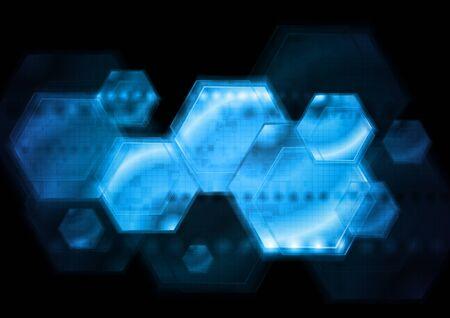 Dark blue technology background. Stock Vector - 17386297