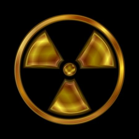 Nuclear radiation shiny symbol. Stock Vector - 17665645
