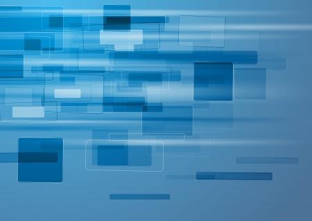 Fondo azul abstracto tecnología.