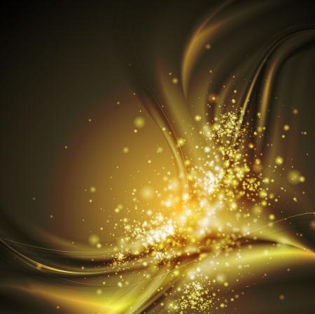 Dark elegant shiny waves. Illustration