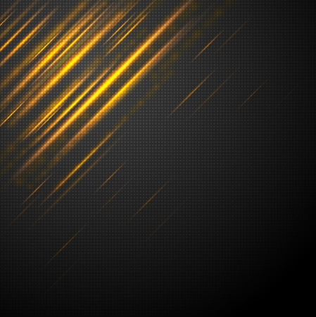 Shiny light yellow abstract stripes. Vector