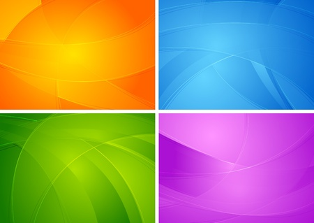 Set of abstract colourful backgrounds. Vector