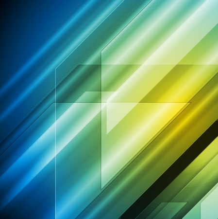 Abstract blue and yellow tech design. Vector