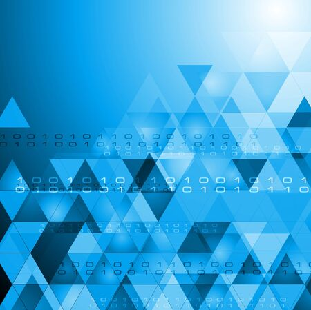 Abstract technology design with triangles.  Vector
