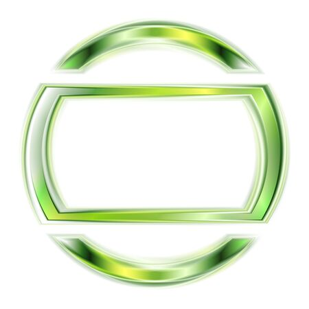 Abstract glowing green shape.  Vector