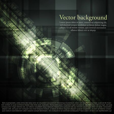 Dark green abstract technology background. Vector design eps 10 Vector