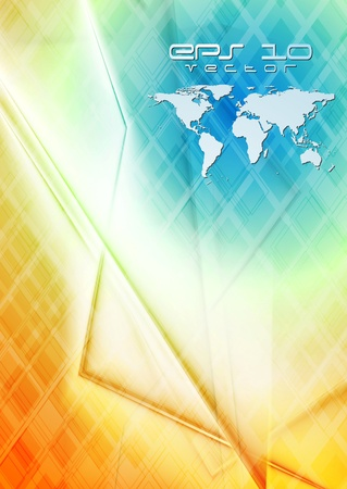 hi tech background: Concept technology world map background
