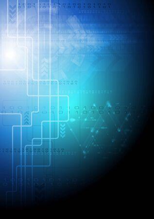digital code: Creative technology modern background  Vector abstract illustration Illustration