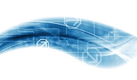 Creative technology wave design. Vector background Stock Vector - 21774626