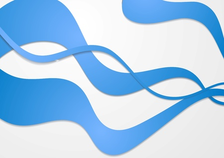 Colourful abstract waves vector design Vector