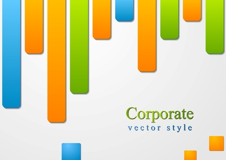 Concept abstract colourful shapes design. Vector background Stock Vector - 22473947
