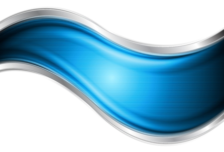 Colourful blue and silver vector waves Stock Vector - 22598768