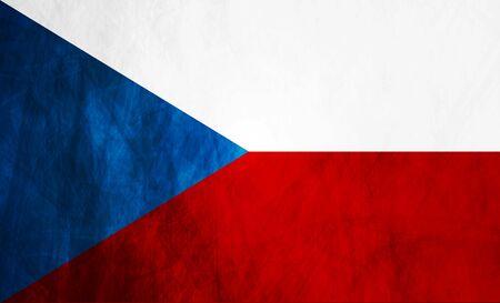 czech flag: Grunge illustrazione di bandiera ceca. Vettoriali