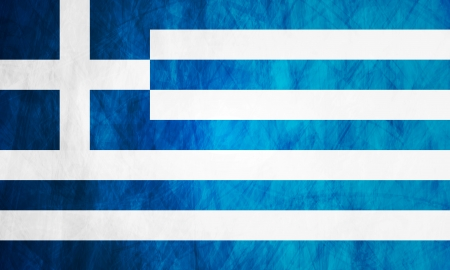 Grunge illustration of Greek flag. Vector background Vector