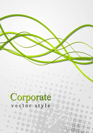 Abstract green waves grunge  Vector