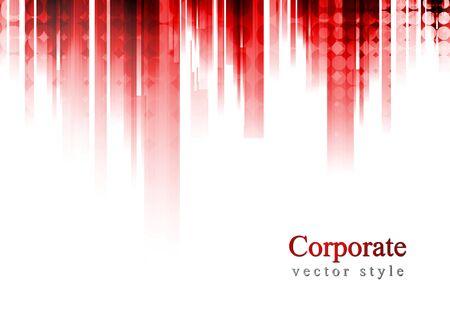 Résumé design coloré de rayures rouges Vecteurs