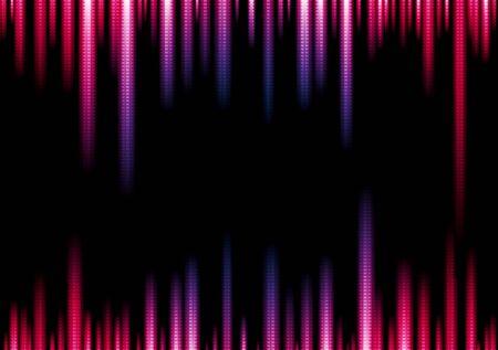 iridescent: Vibrant vector lights abstract illustration Illustration