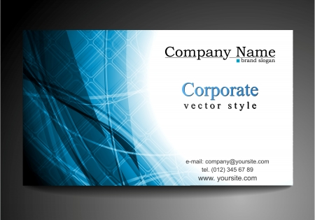 Abstract wavy tech business template Vector