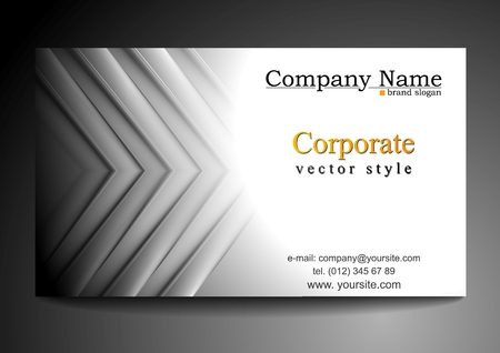 Abstract grey tech business card design Vector