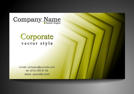 Bright abstract business card background Vector